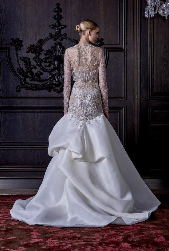 Свадебные платья Monique Lhuillier весна 2016 фото №32
