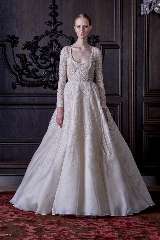 Свадебные платья Monique Lhuillier весна 2016 фото №33