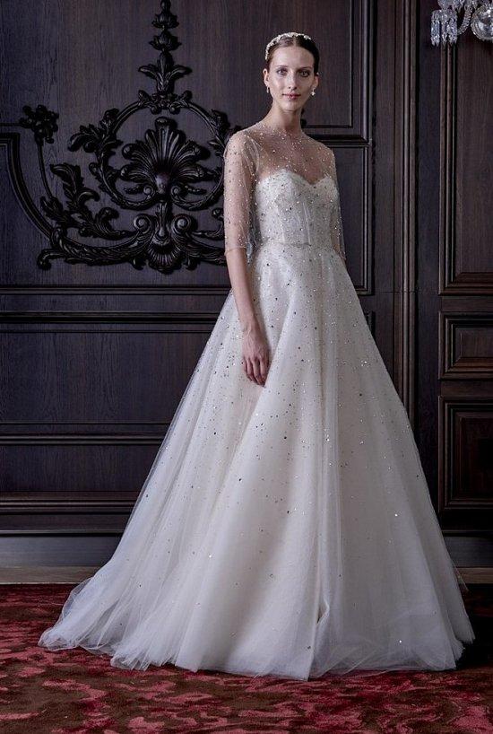 Свадебные платья Monique Lhuillier весна 2016 фото №35