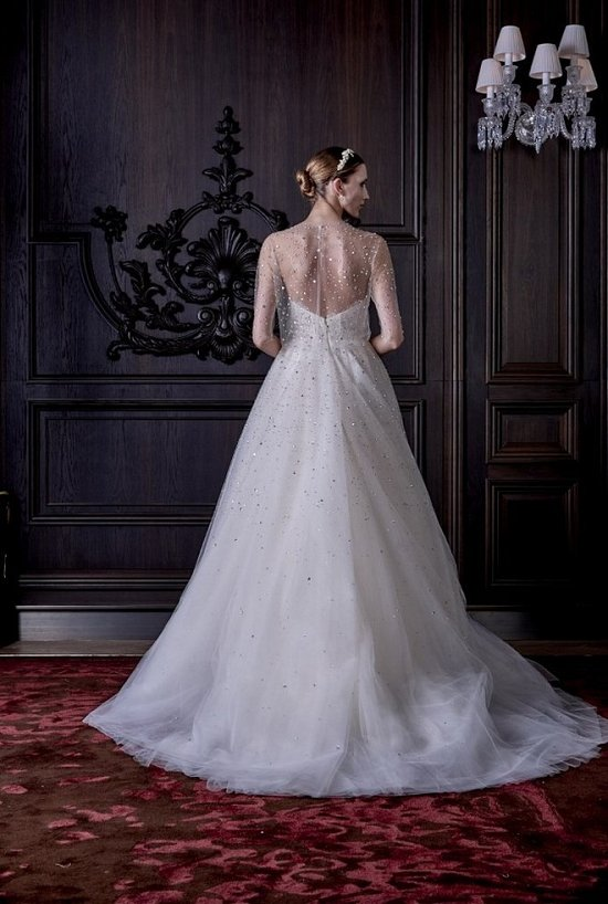Свадебные платья Monique Lhuillier весна 2016 фото №36
