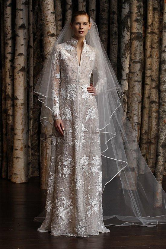 Свадебные платья Naeem Khan весна-лето 2015 фото №18