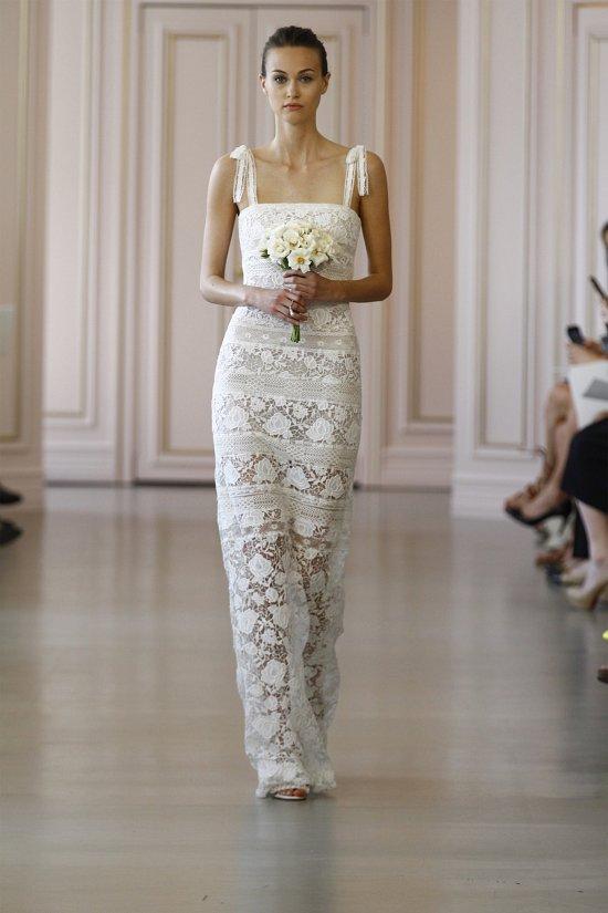 Свадебные платья Oscar de la Renta весна 2016 фото №5