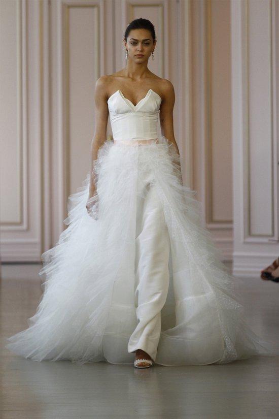 Свадебные платья Oscar de la Renta весна 2016 фото №18