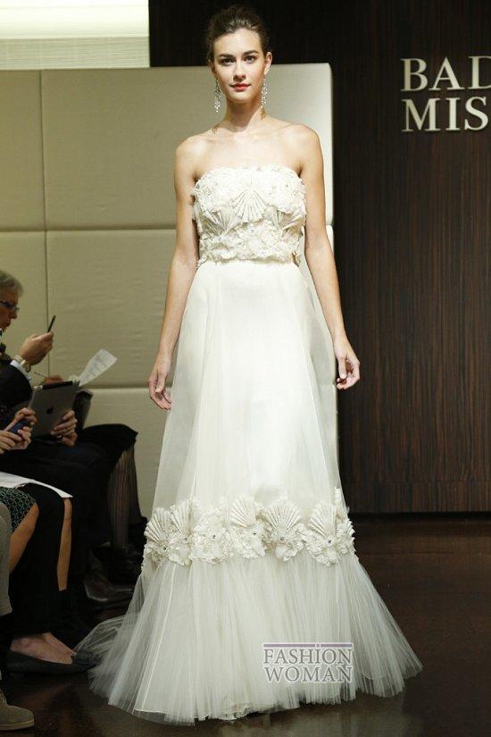 Свадебные платья осень 2013 от Badgley Mischka  фото №12