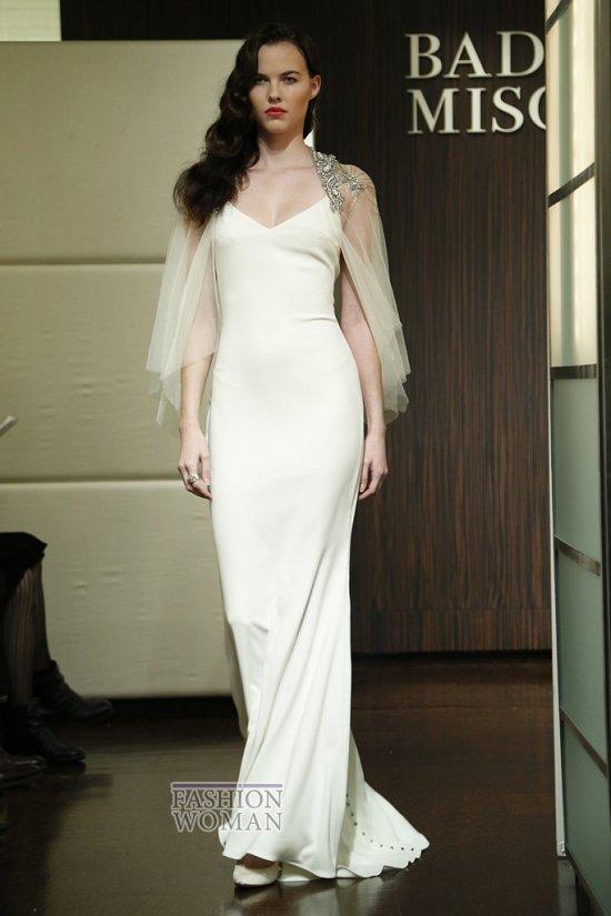 Свадебные платья осень 2013 от Badgley Mischka  фото №13