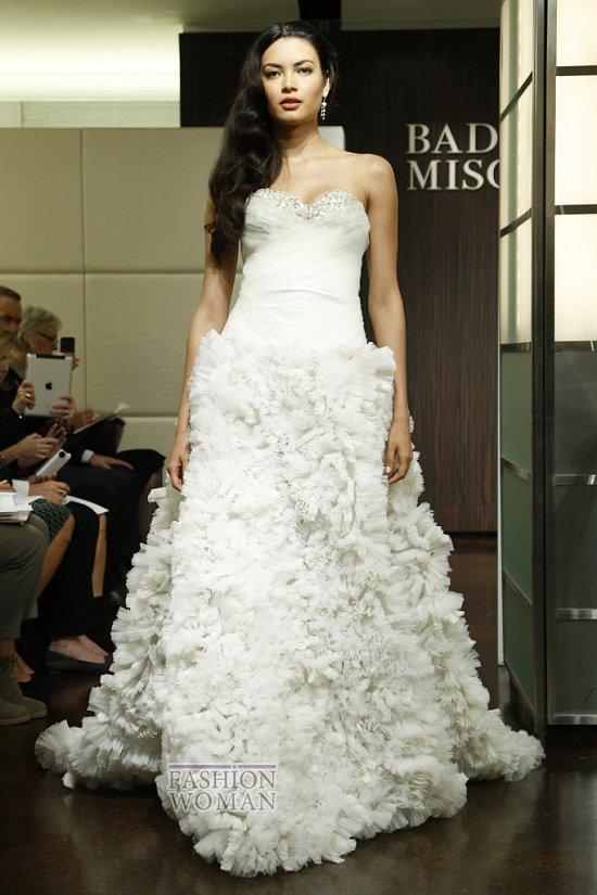 Свадебные платья осень 2013 от Badgley Mischka  фото №15