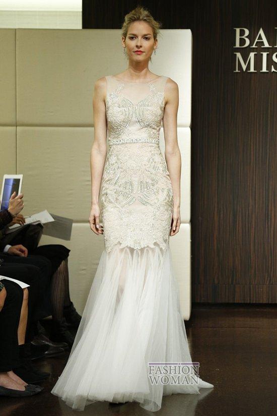 Свадебные платья осень 2013 от Badgley Mischka  фото №16