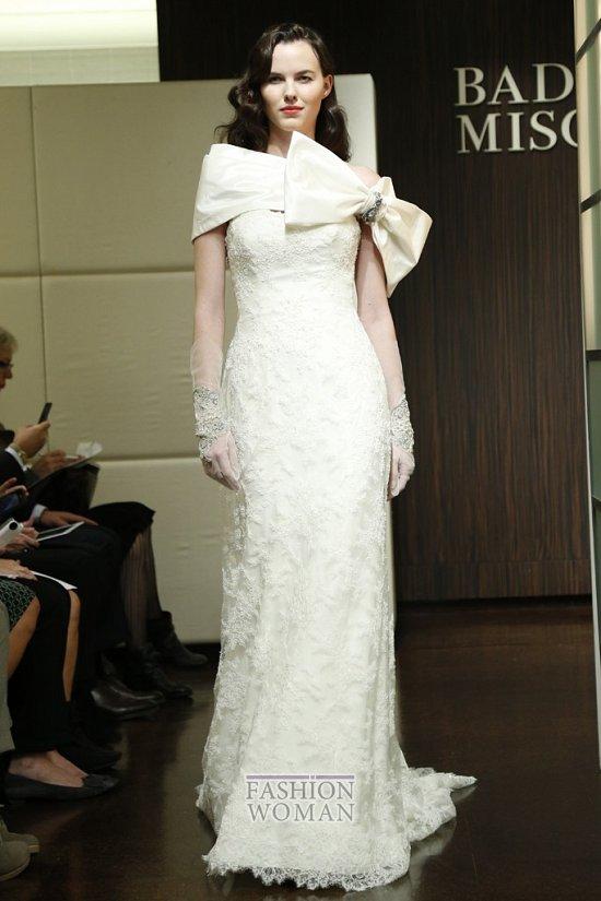 Свадебные платья осень 2013 от Badgley Mischka  фото №7