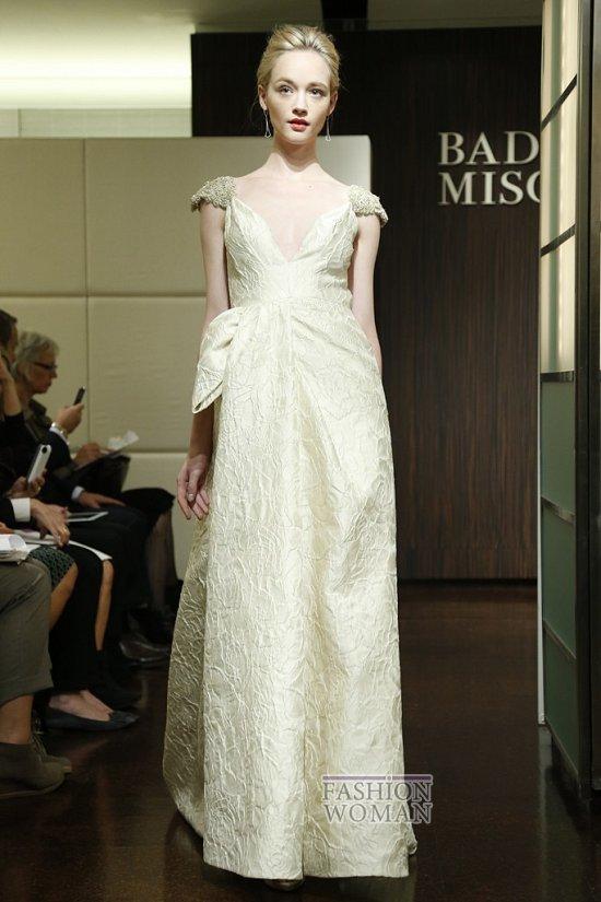 Свадебные платья осень 2013 от Badgley Mischka