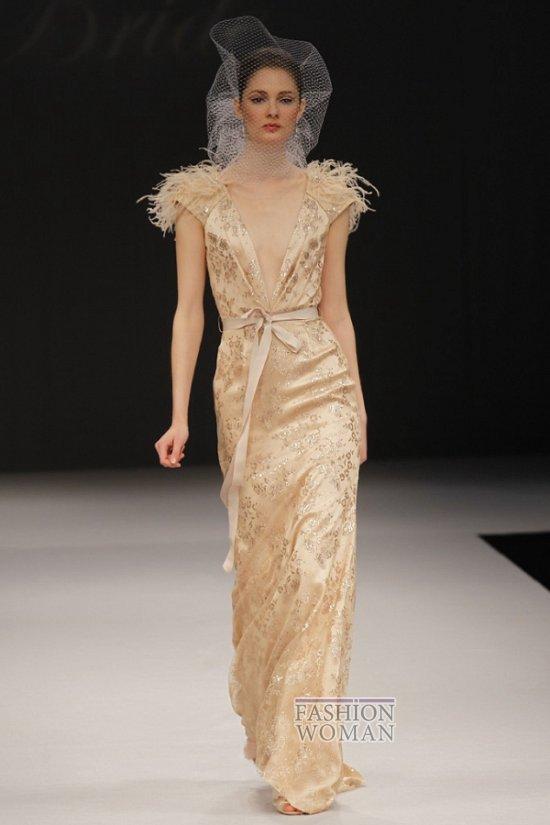 Бежевое свадебное платье весна 2012