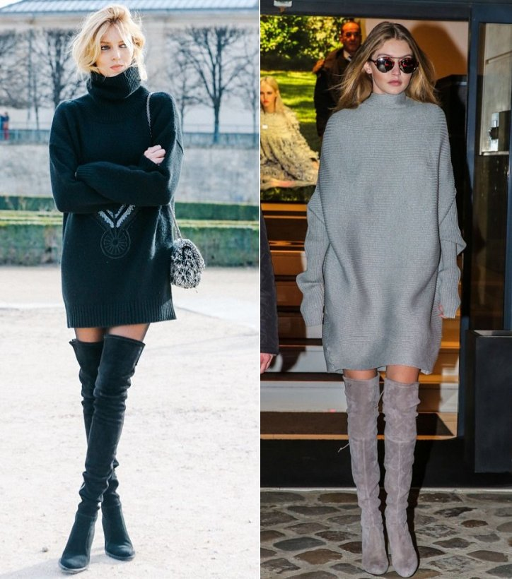 Удлиненный свитер-oversize