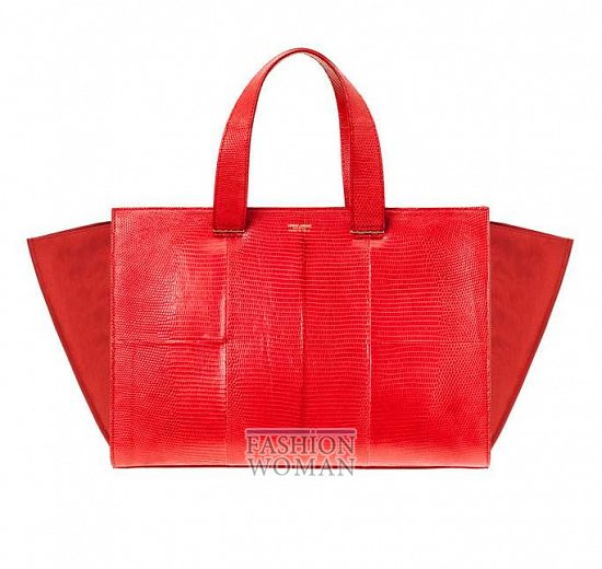 ярко красная сумка