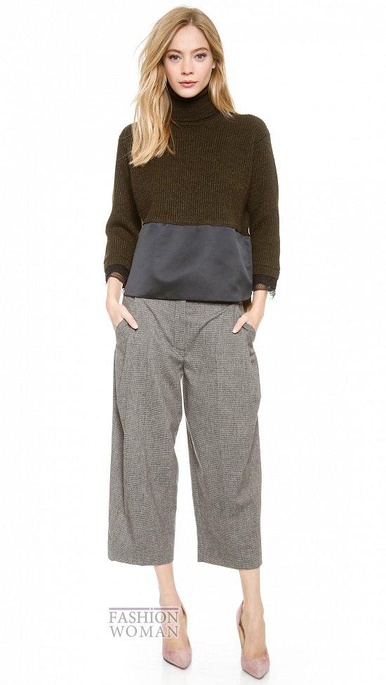 Укороченные брюки - модный тренд сезона фото №40