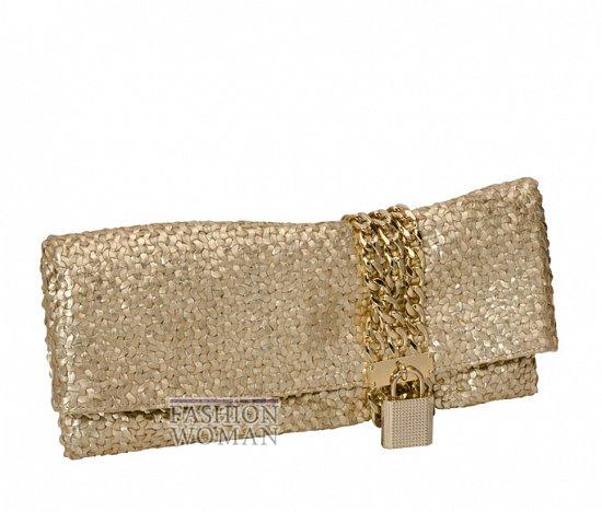Золотая вечерняя сумочка