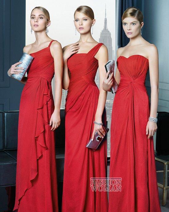 красные вечерние платья 2014