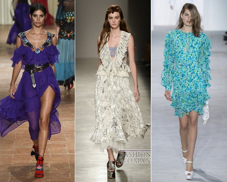 Весенние тенденции моды: воланы, рюши и оборки фото №2