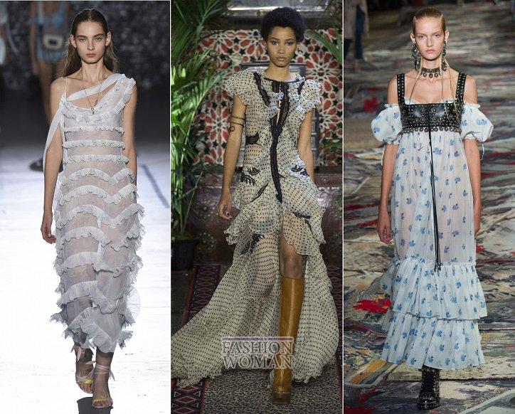 Весенние тенденции моды: воланы, рюши и оборки фото №6