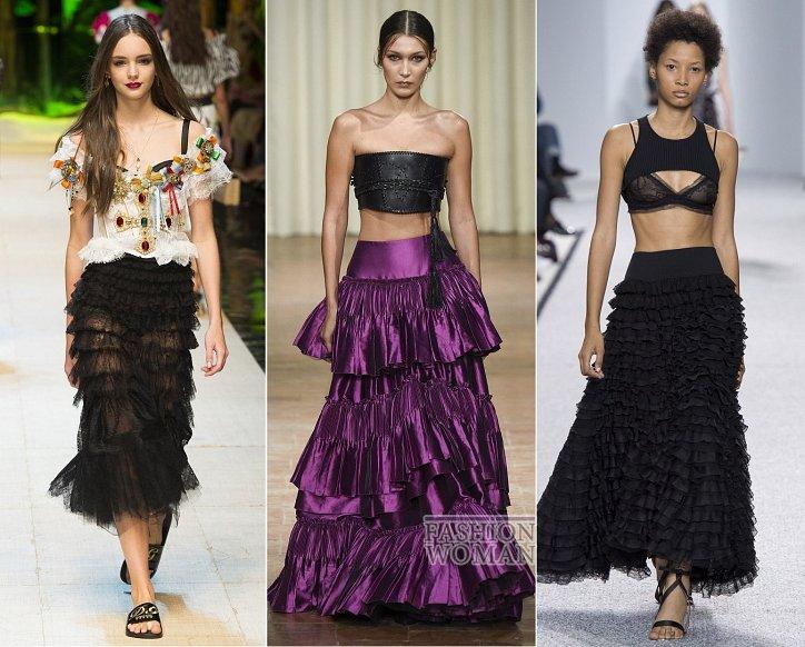Весенние тенденции моды: воланы, рюши и оборки фото №11