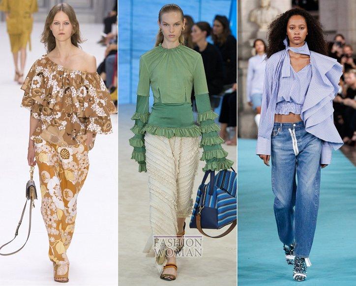 Весенние тенденции моды: воланы, рюши и оборки фото №9