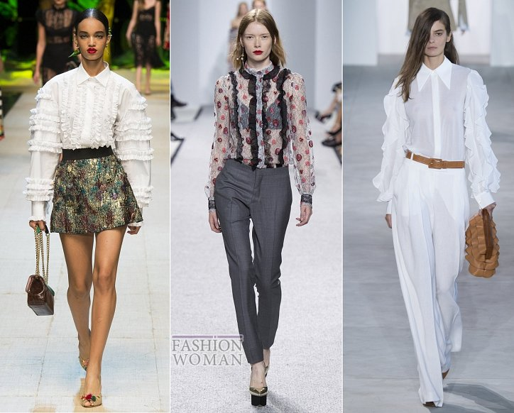 Весенние тенденции моды: воланы, рюши и оборки фото №7