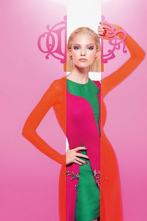 Саша Лусс в рекламе Dior