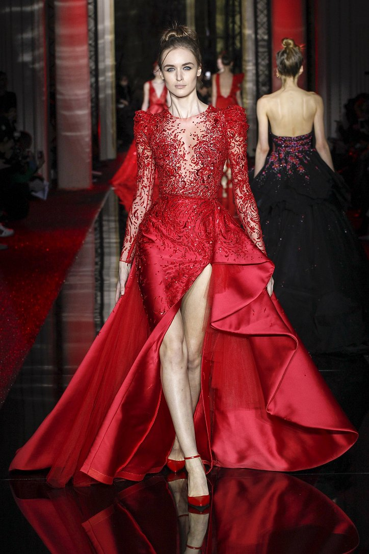 Zuhair murad haute couture 2017 for Haute couture red
