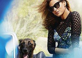 Ева Мендес и ее собака Хьюго