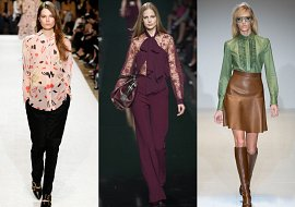 Модные блузки осень-зима 2014-2015