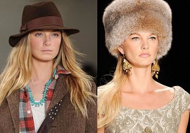Модные головные уборы осень-зима 2014-2015