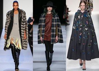 Модные кейпы осень 2014
