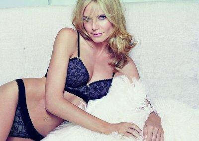Хайди Клум в рекламе собственной линии нижнего белья Heidi Klum Intimates