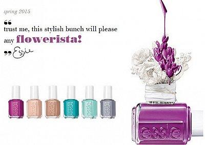 Весенняя коллекция лаков для ногтей Essie Flowerista