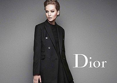 Дженнифер Лоуренс в рекламной кампании Dior осень-зима 2014-2015