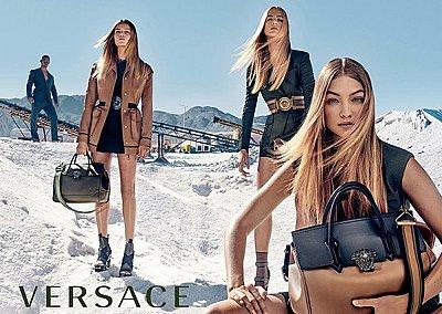 Джиджи Хадид в рекламе Versace весна 2016