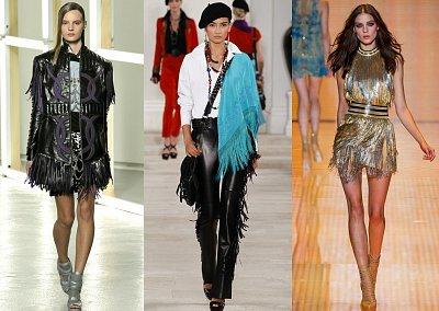 Бахрома - модный тренд сезона весна-лето 2013