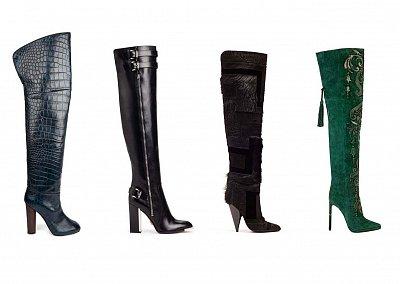 Модные ботфорты осень-зима 2013-2014
