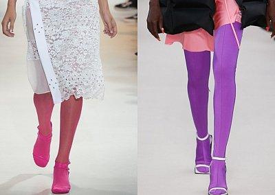 Цветные колготки - модный хит будущей весны
