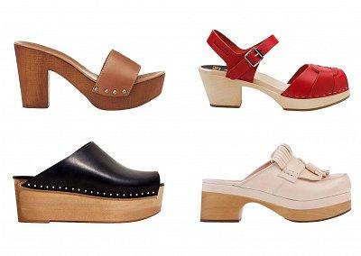 Модные клоги весна-лето 2014