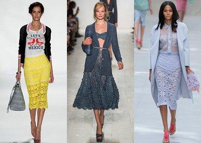 Кружевные юбки 2014