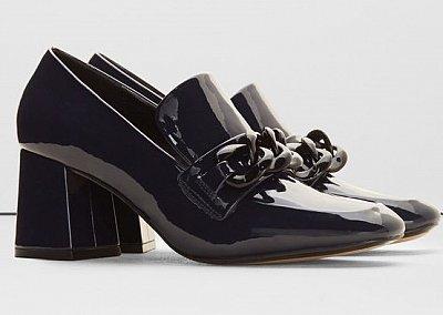 Модная обувь осени: лоферы на толстом каблуке