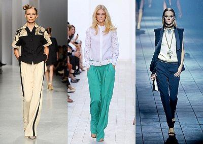 Модные брюки весна-лето 2012