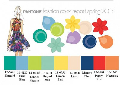 Модные цвета весна-лето 2013