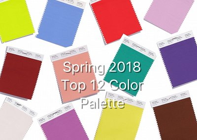 Модные цвета весна-лето 2018