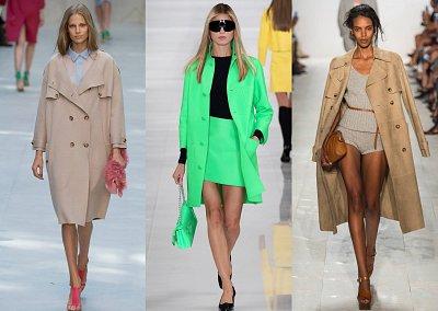 Модные плащи весна 2014