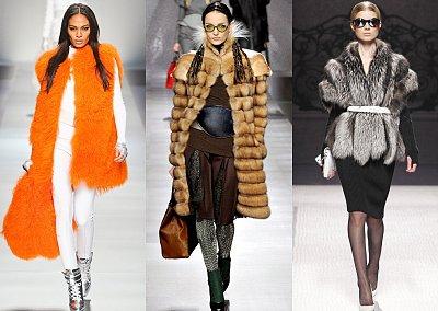 Модный мех зима 2013