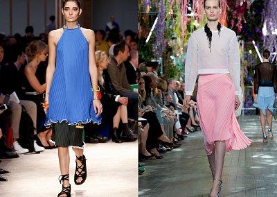 Плиссировка - модный тренд сезона