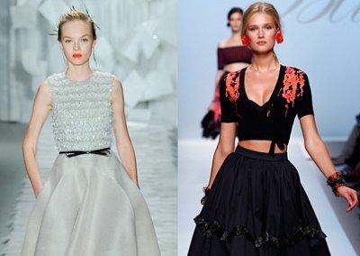 Расклешенные юбки - модный тренд весны