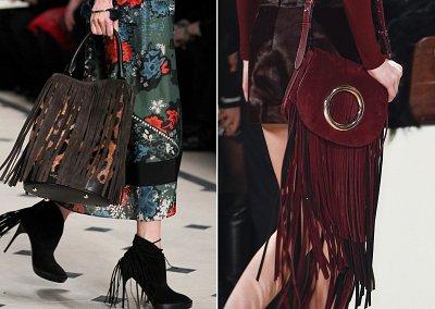 Сумки с бахромой модный тренд осени
