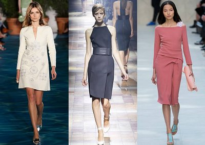 Модные офисные платья 2014