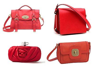 Красная сумка от Victoria Beckham